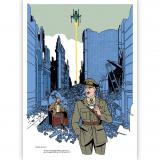 Tirage d'art Blake et Mortimer Un nuage de lait - C.Cailleaux