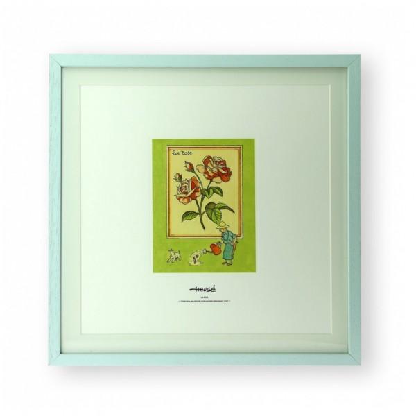 Lithographie Tintin et la Rose