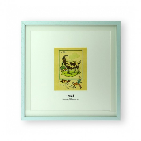 Lithographie Tintin et la chèvre