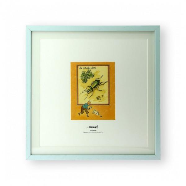 Lithographie Tintin et le carabe doré