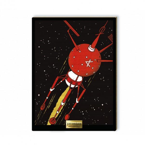 Tableau de collection en bois - L'astronef Amiral
