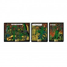 Wooden collector's triptych - Carnivor plants