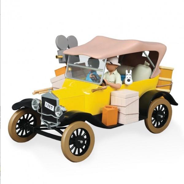 Les véhicules de tintin au 1/12 - La Ford T jaune de Tintin au Congo