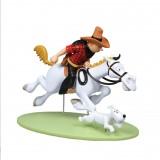 Tintin on horseback - colorized version