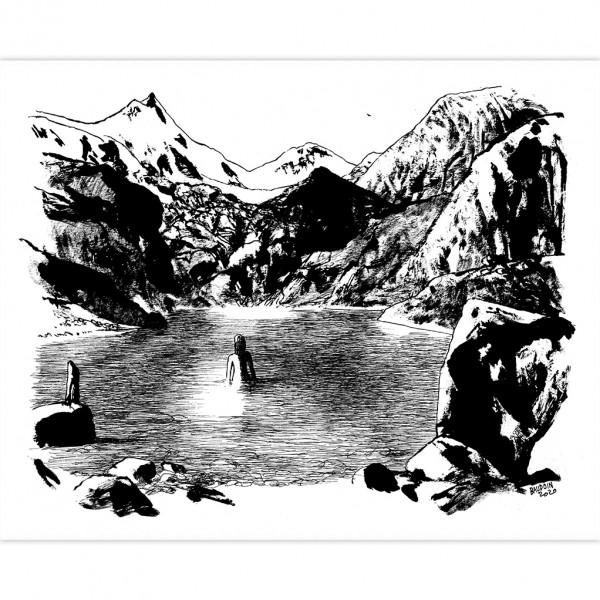 Sérigraphie La baigneuse par Baudoin