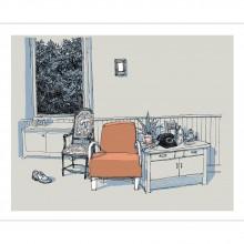 Sérigraphie Le fauteuil orange par De Crécy
