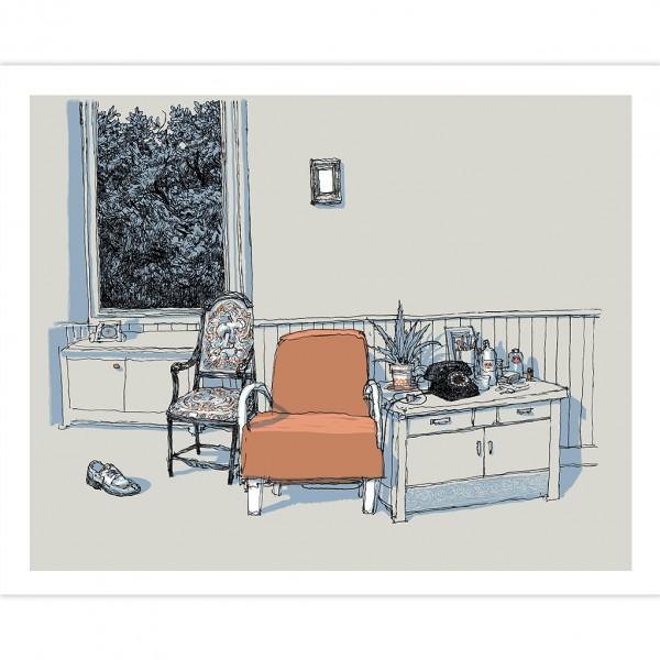 Silkscreen The Orange Armchair by De Crécy