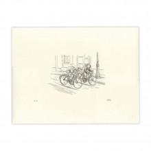 Lithographie Spirou, la lueur d'espoir par Emile Bravo