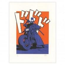 Lithographie Yojimbot, Le sabreur à deux roues
