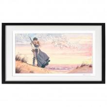 Manara silkscreen print Kiss on the Beach