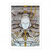 Silkscreen print Carbone et Silicium gold version