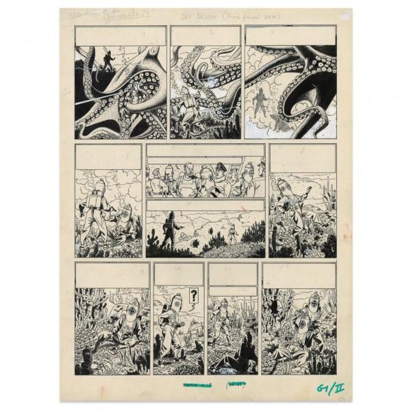 Fac-similé planche originale Blake et Mortimer par Jacobs