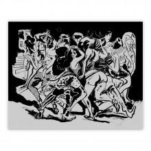 Phosphorescent silkscreen print, Loïc Sécheresse