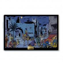 Panel painting -  Mortimer et Nasir à Turbat
