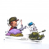 Acrylic figurine Young Spirou military