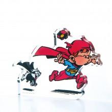 Acrylic figurine Young Spirou super hero