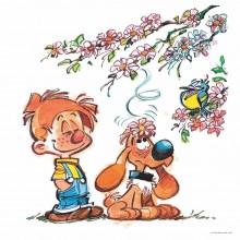 Boule et Bill au printemps