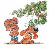 Boule et Bill en été (Dibond 40x40cm)