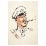 Dibond plate Colonel Olrik's portrait (240x360 mm)