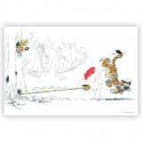 Marsupilami et Tigre (Dibond 60x40cm)