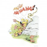 Dibond plate Marsupilami laughing out loud (240x360 mm)