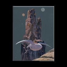 Moebius wood panel, Arzak Le Rocher