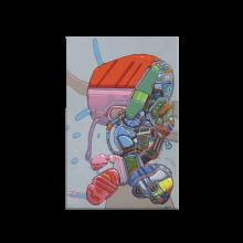 Bois laminé Moebius Abstrait, Lapin mécanique - Lazlo Parker