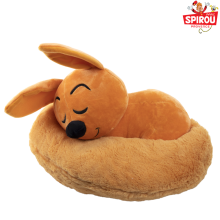 Stuffed toy Spirou and Spip lying down