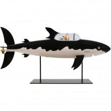 Figurine Tintin Le sous-marin requin 77 cm