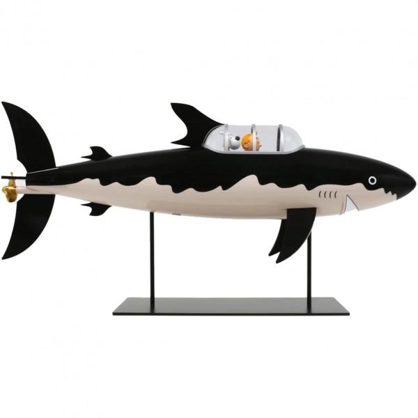Tintin figurine shark submarine 77 cm
