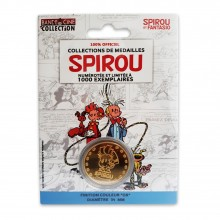 Collectible medal Spirou and Fantasio Gold color
