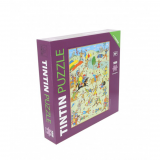 Puzzle Tintin Battle of Zileheroum (1000 pieces) with a poster