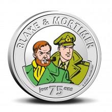 Pièce commémorative 5 euros 75 ans Blake et Mortimer Couleurs