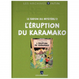 Livre les archives Tintin L'Éruption du Karamako