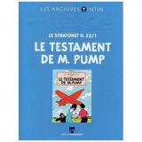 Livre les archives Tintin Le testament de M. Pump