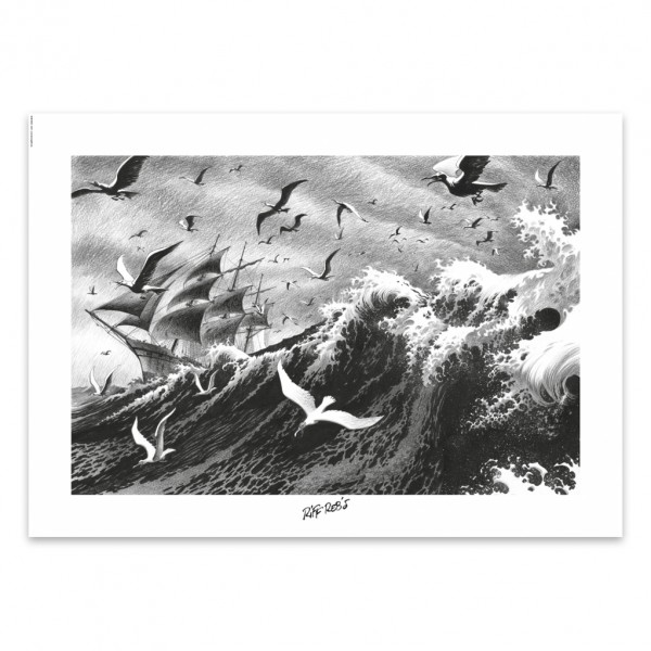 Affiche Riff Reb's - Hommes à la mer - La mer déchaînée