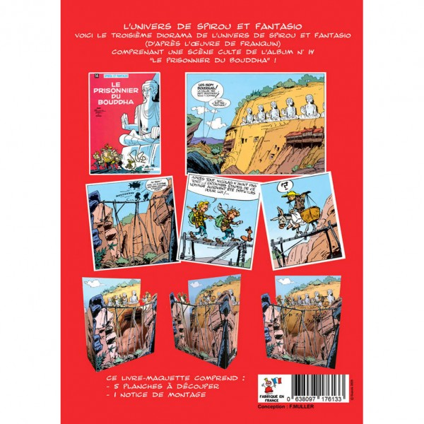Diorama Spirou et Fantasio : Le prisonnier de Bouddha