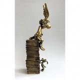 Figurine Pixi bronze - Astérix & Idéfix, pile d'albums