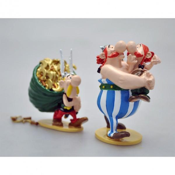 Figurine Pixi Astérix, Obélix and his cousin Amérix