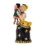 Figurine Pixi Origine Lucky Luke Lulu Carabine embrassant Joe Dalton