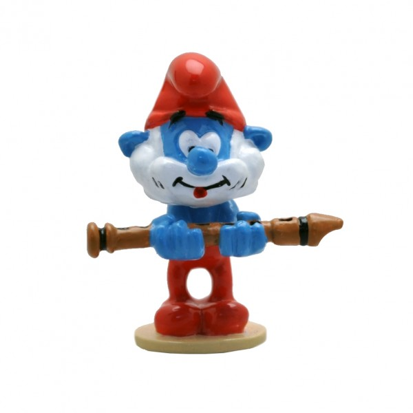 Figurine Pixi Papa Smurf with the magic flute