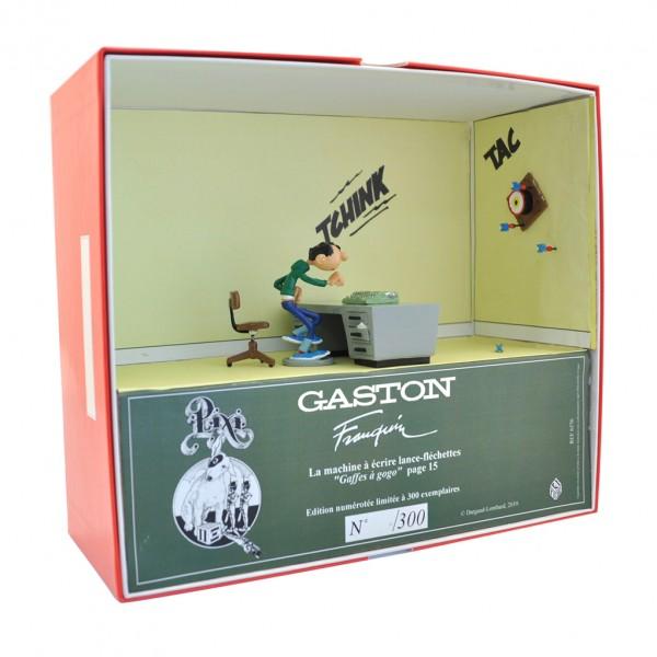 La machine à écrire lance fléchette - Gaston Lagaffe - Collection Boîte