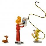 Figurine Pixi Spirou, Spip, Le Marsupilami et le mini Fantasio