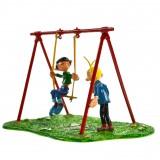 Figurine - Gaston et la balançoire à élastique