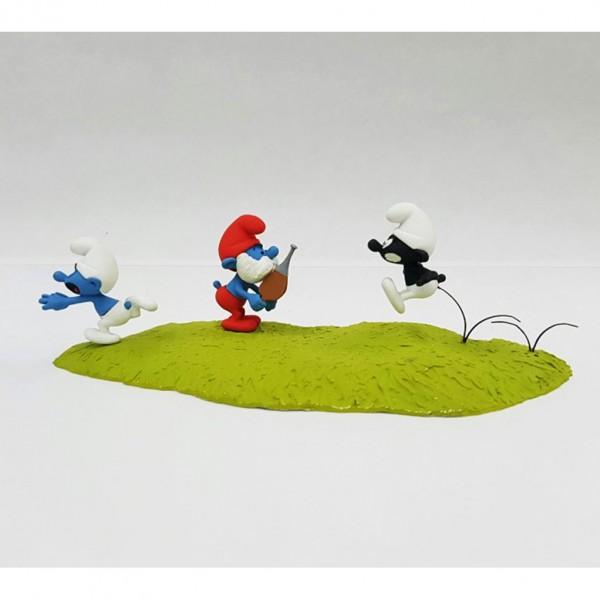 Figurine - La chasse du Schtroumpf Noir