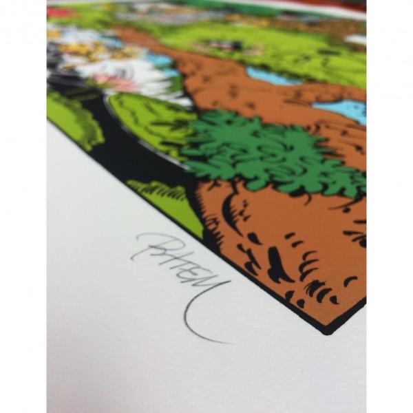 Sérigraphie Petit Marsu deviendra grand (signée par Batem)