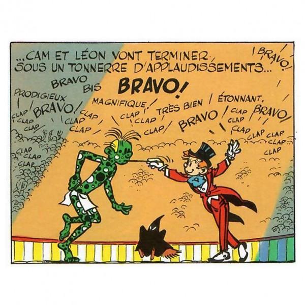 Figurine - Cam et Léon - Spirou et Fantasio - N/B - Les cases de Franquin