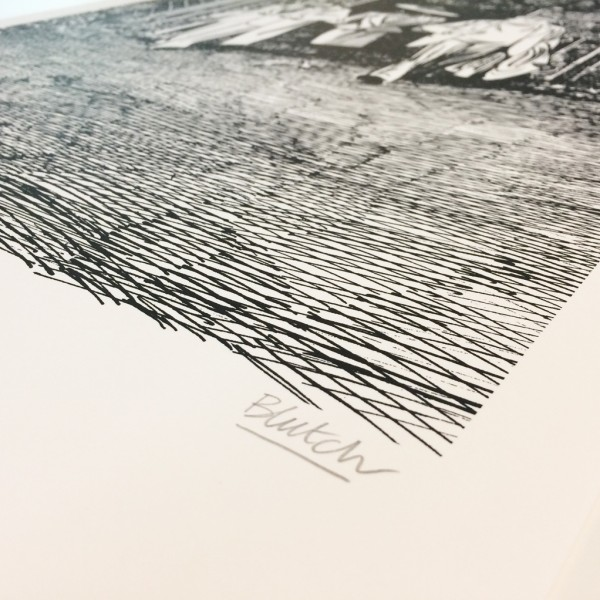 Silkscreen print Tif &Tondu Blutch 1