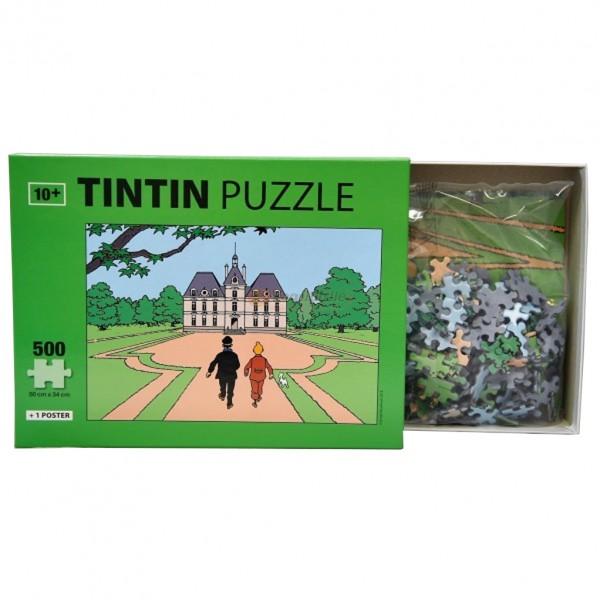 Puzzle Tintin - LE CHÂTEAU DE MOULINSART (500 pièces)