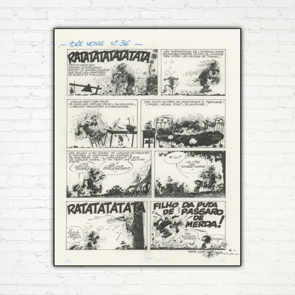 Aluminium printing Idées Noires 36 by Franquin (french Edition)